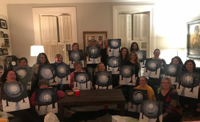 Photo of Paint Night for the Judy Marsales Sales Representatives