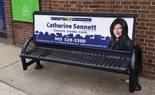 Photo of Catherine Sennett Bench Sign