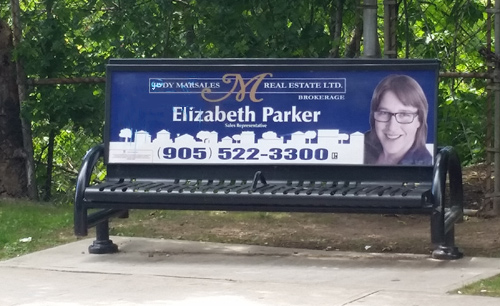 Photo of Elizabeth Parker Bench Sign