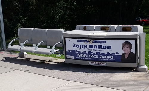 Photo of Zena Dalton Bench Sign