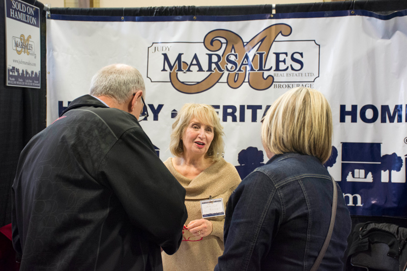 Photo of Janice Rocchi answers questions at the 2018 Ancaster Spring Home Show