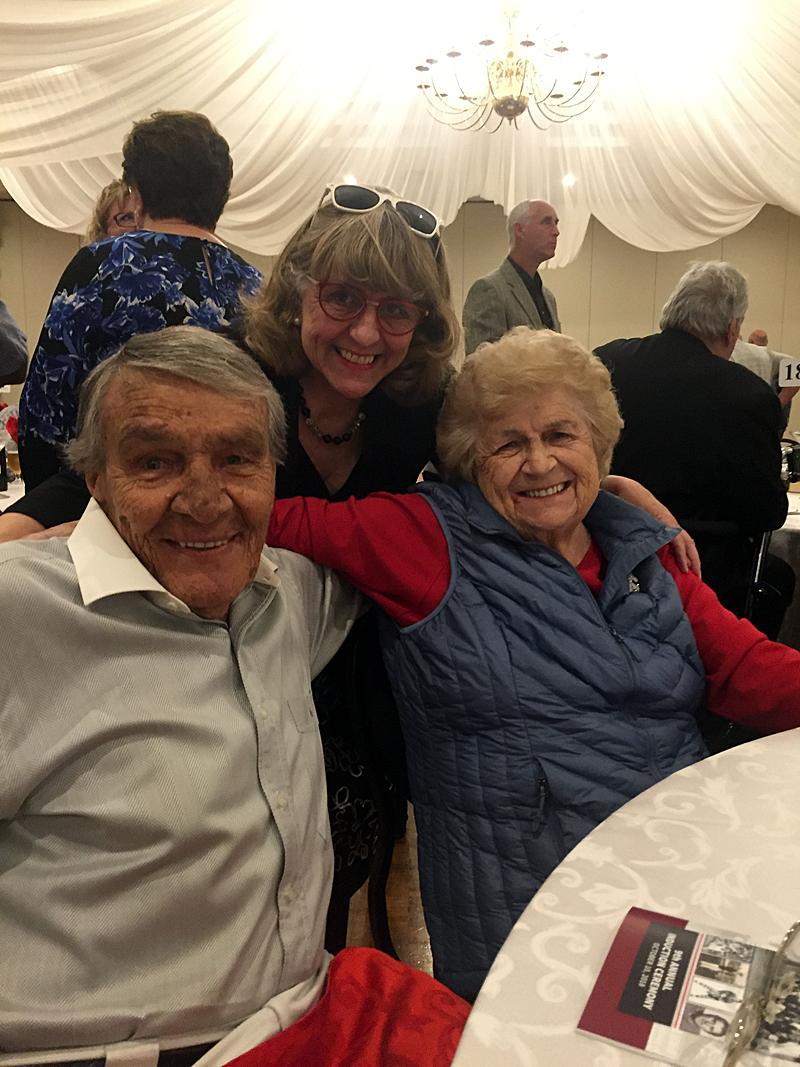 Photo of Judy, Noella and Charles Juravinski - Hamilton Hall of Fame Inductee Luncheon