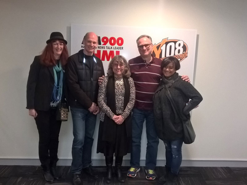Photo of Judy and Guests for SOLD ON HAMILTON on CHML 900 AM show