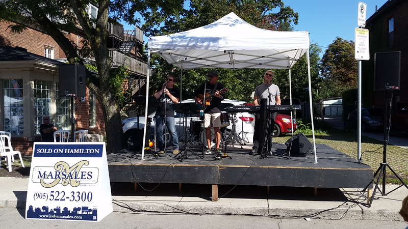 Photo of the Judy Marsales stage at the 2017 Locke Street Festival