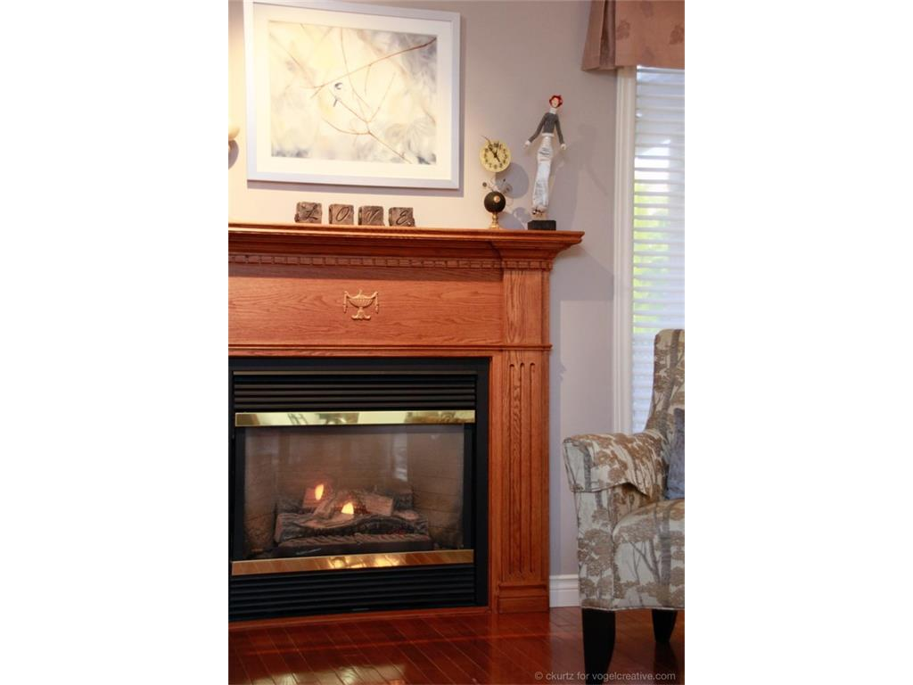 123 Grindstone Way - Living Room Fireplace