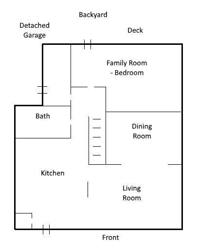 180 HADDON Avenue S  - Main Level Floor Plan