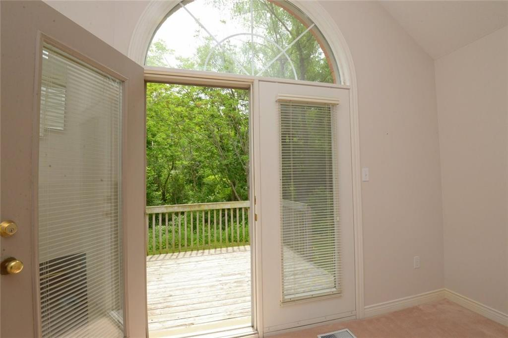 14-60 Dundas Street - Very private rear yard overlooking Spencer Creek and treed area.