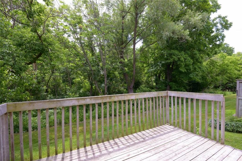 14-60 Dundas Street - Rear yard view....... just beyond the edge is Spencer Creek.